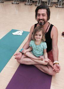 yoga, kids yoga, dad, daddy, dad time, active kids