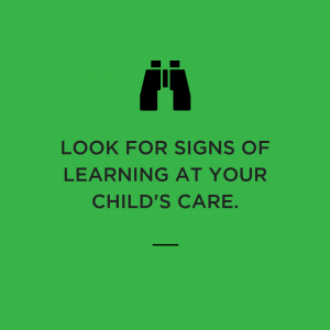 learning foundations, signs of care, quality care