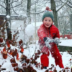 Play outside pre-k kindergarten fun snow play