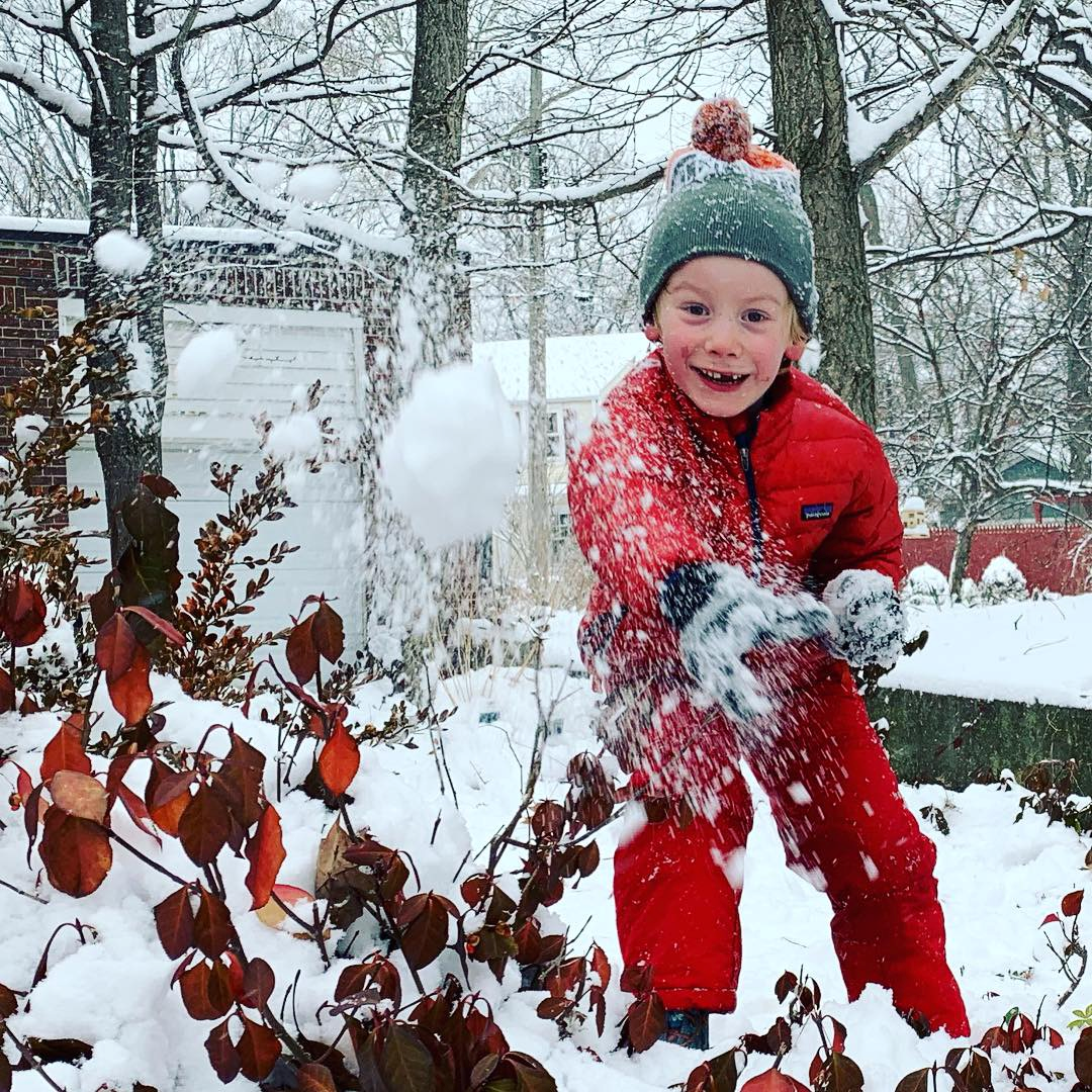 Play outside pre-k kindergarten fun snow play