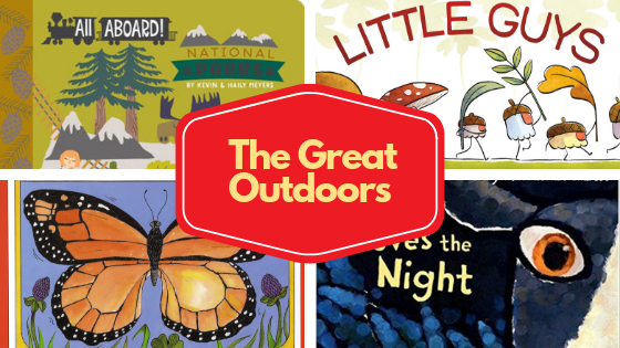 Collage of images of books about the great outdoors