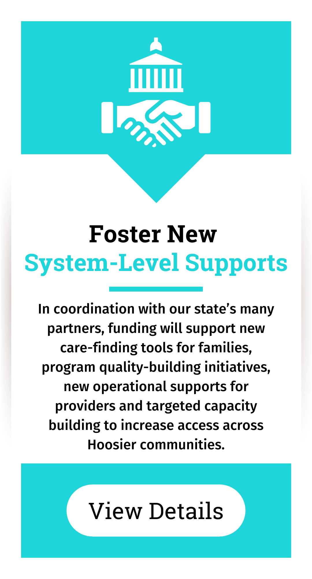 Foster new supports