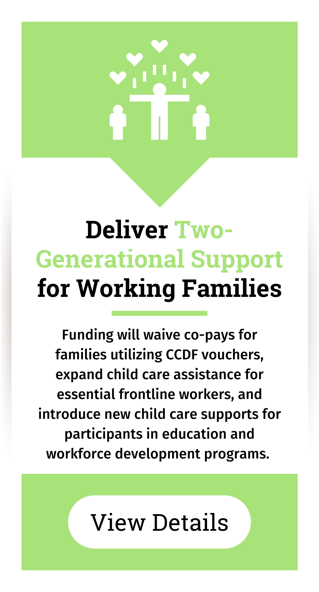 Deliver two-generational support